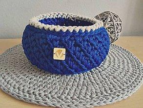 Košíky - Košík modrý - 8315959_