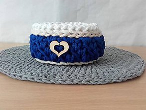 Košíky - Košíček modrý - 8315998_