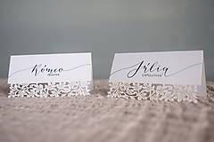 Papiernictvo - Svadobné menovky // Rómeo a Júlia - 8318341_