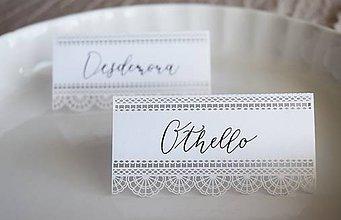 Papiernictvo - Svadobné menovky // Othello a Desdemona - 8318296_