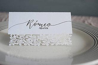 Papiernictvo - Svadobné menovky // Rómeo a Júlia - 8318340_