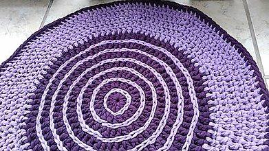 Úžitkový textil - fialový koberček - 8317993_