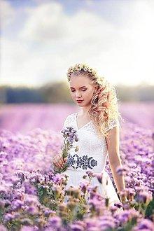 Opasky - Ľudový vyšívaný opasok Dyona Folk rôzne farby - 8316319_