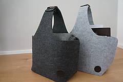 Košíky - Filcový košík - sivý - 8317318_
