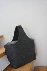 Košíky - Filcový košík - antracit - 8317332_