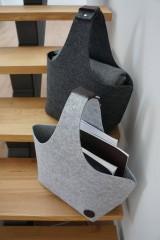 Košíky - Filcový košík - antracit - 8317333_