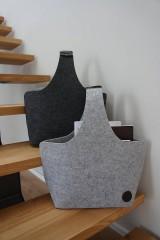 Košíky - Filcový košík - antracit - 8317335_