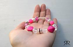 Náramky - Ružový náramok - 8317514_