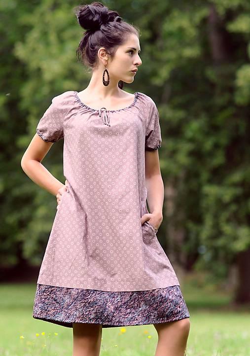 Šaty - světle bordó