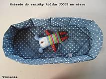 Hniezdo do vaničky kočíka JOOLZ 100% bavlna Hviezdička sivá na mieru