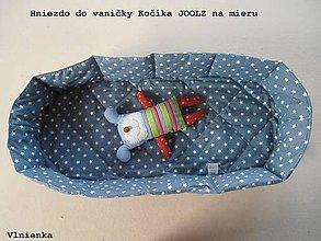 Textil - Hniezdo do vaničky kočíka JOOLZ 100% bavlna Hviezdička sivá na mieru - 8318571_