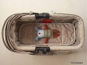 Textil - Podložka do vaničky Concord Wanderer 100% merino Bodka režná béžová - 8318573_