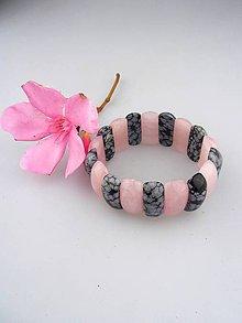 Náramky - ruženín obsidián náramok luxusný - 8321421_
