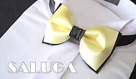 Doplnky - Pánsky žlto čierny motýlik - 8319872_