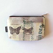Taštičky - Mimi - Béžová s motýľmi - 8319258_