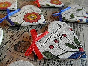 Darčeky pre svadobčanov - Svadobné menovky magnetky - 8318785_