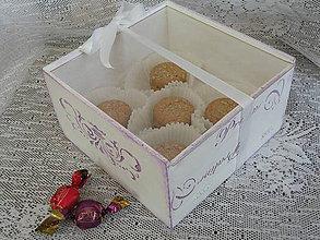 Nezaradené - Krabička z francouzské cukrárny fialová - 8320806_