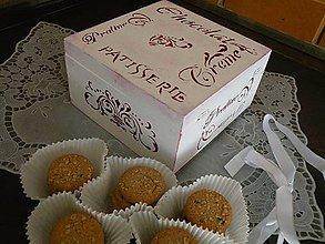 Nádoby - Krabička z francouzské cukrárny bordó - 8320892_