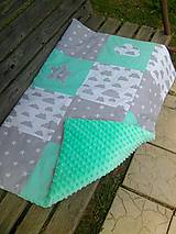 Textil - mäkkučký paplonik s minky - 8319677_