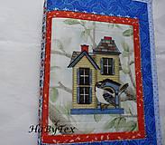 Papiernictvo - Domček - obal na knihu, alebo zápisník - 8320678_
