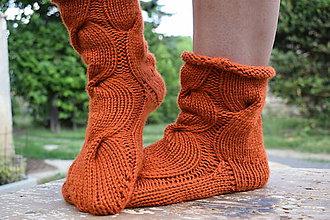 Obuv - osmičkové ponožky - terakota (v.37-39) - 8320443_