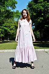 Šaty - Dlhé bavlnené šaty s volánom - 8321054_