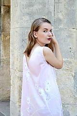 Šaty - Dlhé bavlnené šaty s volánom - 8321058_