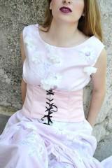 Šaty - Dlhé bavlnené šaty s volánom - 8321063_