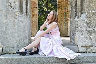 Šaty - Dlhé bavlnené šaty s volánom - 8321062_