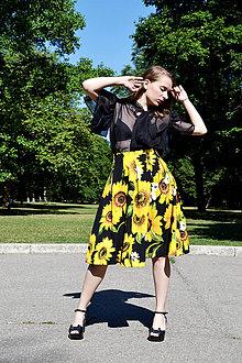 Sukne - Sukňa plná slnečníc - 8321139_