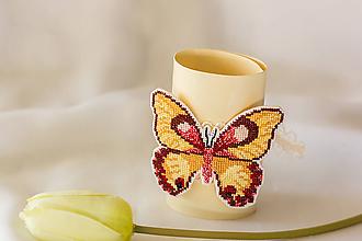 Náramky - Motýlik belavý  - náramok - 8320123_