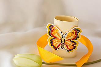 Náramky - Motýľ žltáčik - náramok - 8320152_
