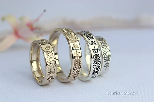 Prstene - folkórne obrúčky - 8319824_