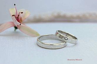 Prstene - minimalistické strieborné obrúčky hladké - 8319782_