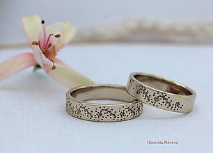 Prstene - Obrúčky s folklórnym vzorom (Sliezko zlaté) - 8319918_