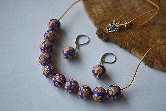 Sady šperkov - Kvietkované guličky sada 3 - 8319747_