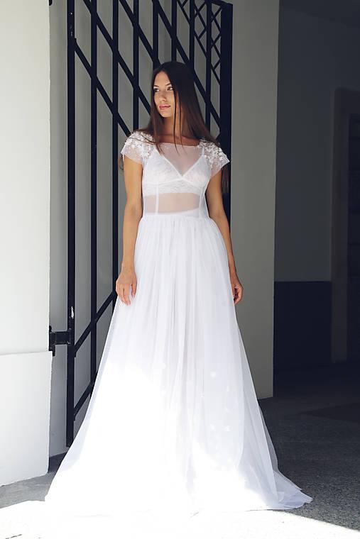 Svadobné šaty Ľahkosť Vesmíru   ceccilia - SAShE.sk - Handmade Šaty 4356d4e00e8