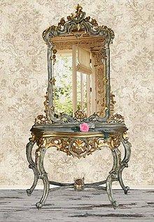 Nábytok - Konzola so zrkadlom