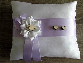 Úžitkový textil - Vankúš pod obrúčky - 8322446_