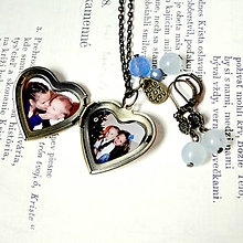 Náhrdelníky - Osadenie fotografie podľa vlastného výberu do medailónu /0562 - 8323427_