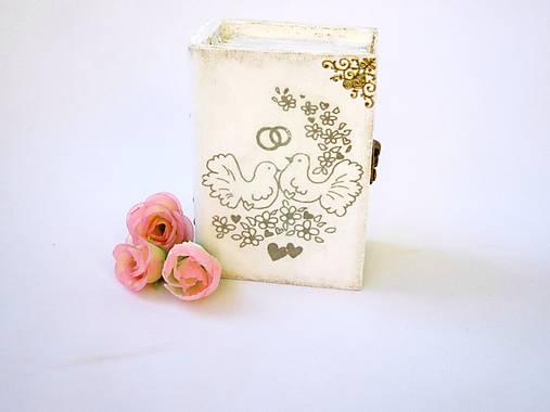 Krabička na prstienky -zlatá