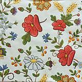 Papier - S1030 - Servítky - ľudový motív, mak, výšivka, margarétka - 8322650_