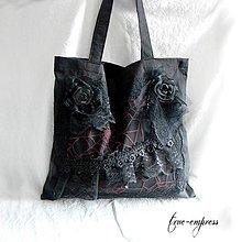 Nákupné tašky - Gotická látková nákupná taška - 8322525_