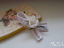 Pierka - svadobné pierko malé vintage - 8322302_