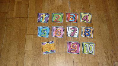 Hračky - Pexeso látkové ČÍSLICE - 8322706_