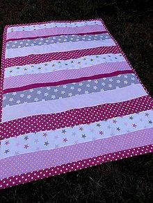 Úžitkový textil - PŘEHOZ 140 x 200cm...růžový - 8323183_