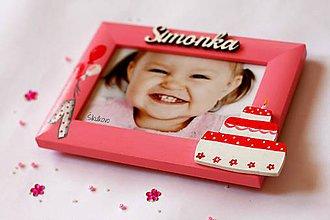 Detské doplnky - Fotorámik narodeninová torta - 8323182_