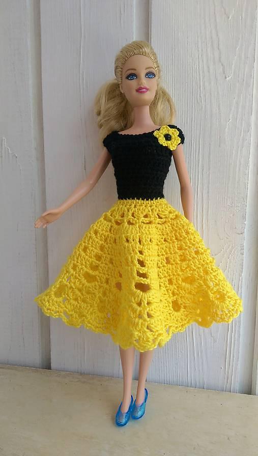 f4e6a434fbd9 Háčkované žlto-čierne šaty pre Barbie   natalimilusa - SAShE.sk ...