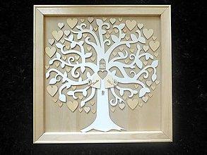 Dekorácie - svadobná kniha hostí/drevený strom 4 - 8324100_