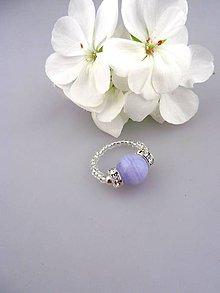 Prstene - chalcedón prsteň flexibilný - 8324228_